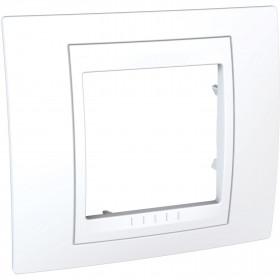 Πλαίσιο 2 Στοιχείων Λευκό Unica Plus