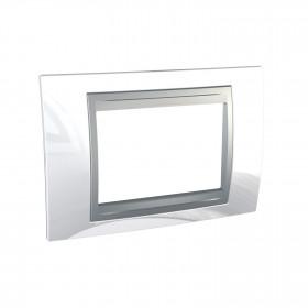 Πλαίσιο 3 ΣΤ. Λευκό/Αλουμίνιο Unica Top Color