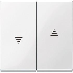 Μετώπη 2 Πλήκτρων Ρολών Λευκό System-M