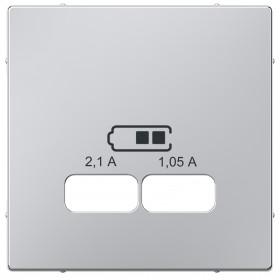 Μετώπη Πρίζας Διπλής USB Αλουμίνιο System-M