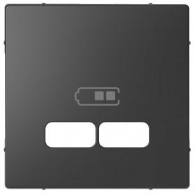 Μετώπη Πρίζας Διπλής USB Ανθρακί D-Life