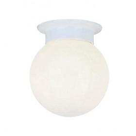 Απλίκα Μεταλλική Λευκό Γυαλί E27