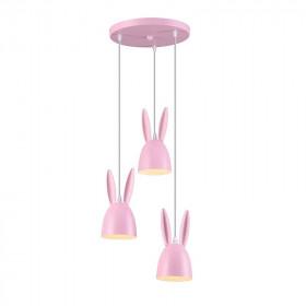 Φωτιστικό Παιδικό Ροζ E27 Bunny ACA