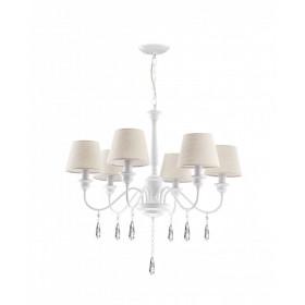 Φωτιστικό Εξάφωτο Ε14 Λευκό Elegant 5157202 NOVA LUCE