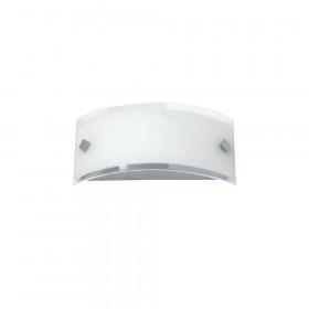 Απλίκα Μπάνιου Γυαλί Σατινάτο Λευκό E14 Fina 454400 VIOKEF