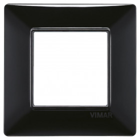 Πλαίσιο 2 Στοιχείων Μαύρο Plana VIMAR