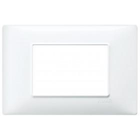 Πλαίσιο 3 Στοιχείων Πλαστικό Λευκό Plana VIMAR