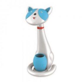 Παιδικό Φωτιστικό Γραφείου LED DIM Σε Σχήμα Γάτας Λευκό/Μπλε COM