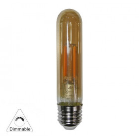 Λάμπα LED Σωλήνας Με 4 ceramic led filament 6W E27 3000Κ Μελί COG 230V Dimmable LUMEN