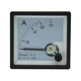 Αμπερόμετρο Πόρτας Πίνακος Μέσω Μετασχηματιστή 72X72mm AC 200/5A SF-72 SFIM