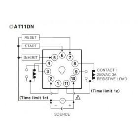 Χρονικό 6 Λειτουργιών 0.05s-100h 11P 24-240VAC/DC AT11DN AUTONICS