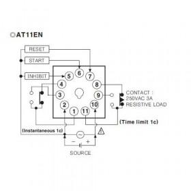 Χρονικό 6 Λειτουργιών 0.05s-100h 11P 24-240VAC/DC AT11EN AUTONICS