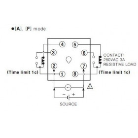 Χρονικό DELAY OFF 0.05s-10min 8P 24VDC AT8PMN-2 AUTONICS