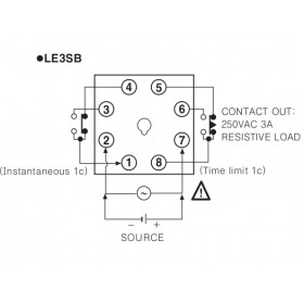Χρονικό DELAY ON LCD 48X48mm 24-240VAC/DC LE3S-B AUTONICS