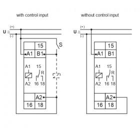 Χρονικό 8 Λειτουργιών 1-100h 12-240VAC/DC E1ZM10 TELE