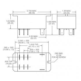 Ρελέ Υψηλών Ρευμάτων 2P 2NO 24VDC 30A T92P7D22-24 SCHRACK