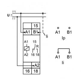 Χρονικό Flash 1CO 12-240VAC/DC E1ZI10 TELE