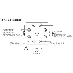 Χρονικό DELAY ON 60s 24VDC 8P ATE1-60S AUTONICS