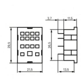 Βάση PCB Για Ρελέ Μεσαίο 4P PT78604 SCHRACK