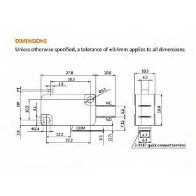 Μικροδιακόπτης Με Λαμάκι & Ροδάκι VM-05S-05C0-Z