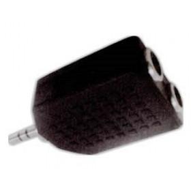 Adaptor 3.5mm² Stereo Σε 2X6.3mm² Stereo Θηλυκό AU1509 UNI