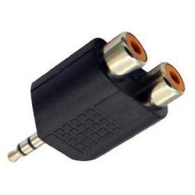 Adaptor 3.5mm² Stereo Σε 2XRCA Θηλυκό JT-3189A JKG