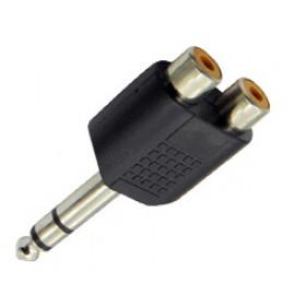 Adaptor 6.3mm² Stereo Σε 2XRCA Θηλυκό JT-3196 JKG