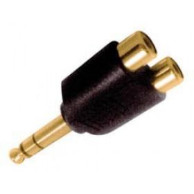 Adaptor 6.3mm² Stereo Σε 2XRCA Θηλυκό Επίχρυσο AU5170G UNI