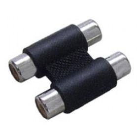 RCA Adaptor Πλαστικό Νίκελ 2Θηλυκό Σε RCA 2Θηλυκό Μαύρο G048N(AD057) YT