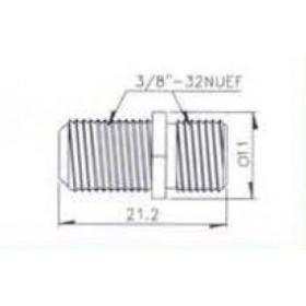 F Adaptor Θηλυκό Σε F Θηλυκό V7242 (L:21.2mm) UNI