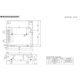 Converter 25W 12V 2.1A 36-72V SD25C-12 MEAN WELL