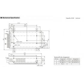 Converter 200W 5V 34A 19-36V SD200B-5 MEAN WELL