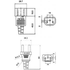 Καλώδιο Τροφοδοσίας Η/Υ Προέκταση M/F 2m JT1125/1121 YUN