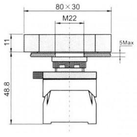 Μπουτόν Χωνευτό Φ22 1NO+1NC Start-Stop XDL31-EB8325 XINDALI