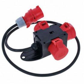 Adaptor Αρσενικό 5P 16A ΣΕ 3 Θηλυκά 5P 16A ΜΕ Καλώδιο 9430718 IP44 PCE