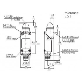 Τερματικός Διακόπτης Με Στρογγυλό Άκρο 10A 250VAC AZ8111 SUNS