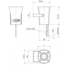 Σειρήνα Buzzer 12VDC 100dB KPS-G4510 KEPO
