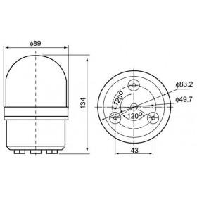 Φάρος LED Flashing C-1081 12VDC Κόκκινος CNTD