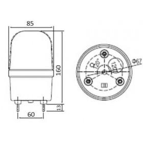 Φάρος LED Flashing C-1101 12VDC Κόκκινος CNTD