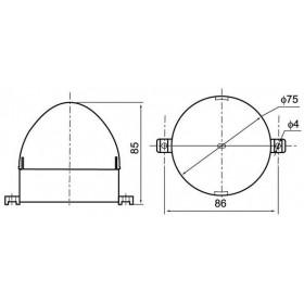 Φάρος LED Strobe C-3072 230VAC Κίτρινος CNTD