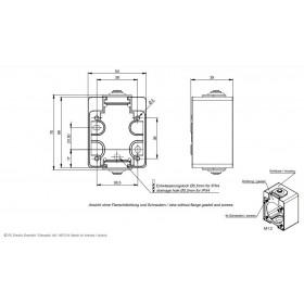 Κουτί Επίτοιχο Για Πρίζα 2P+E Μπλέ 106-0 PCE