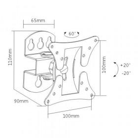 """Βάση Τηλεόρασης LCD 23""""-42"""" 20kg 30° LCD-501A BRATECK"""