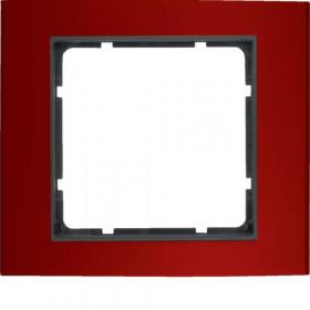 Πλαίσιο 1 Θέσης Κόκκινο Με Ανθρακί B.3 BERKER