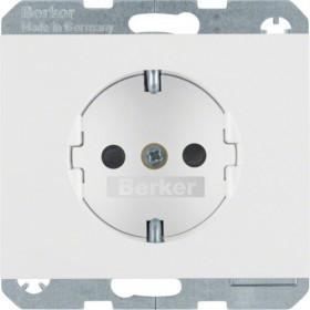 Πρίζα Σούκο Ασφαλείας Λευκό K.1 BERKER
