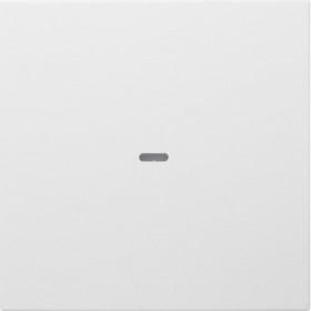 Μετώπη Μπουτόν KNX 1 Πλήκτρου Φωτισμού Λευκό Ματ S.1/Bx