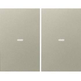 Μετώπη Μπουτόν KNX 2 Πλήκτρων Φωτισμού Inox K.5