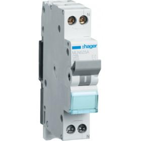 Αυτόματη Ασφάλεια 1P+N C 25A 6kA 1 Στοιχείου HAGER