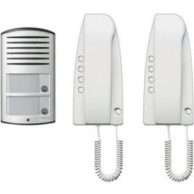 KIT Θυροτηλεφώνου SPRINT 2 Διαμερισμάτων Με Μπουτονιέρα LINEA2000