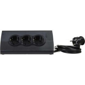 Πολύμπριζο Επιτραπέζιο 3 Σούκο και 2 USB Μαύρο 1,5m LEGRAND