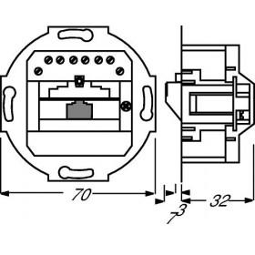 Μηχανισμός Πρίζας Τηλεφώνου RJ45 0213 Busch-Jaeger